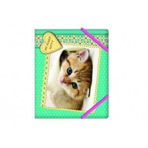 "Папка на резинках В5 ""My funny kitty"" «Котенок»"