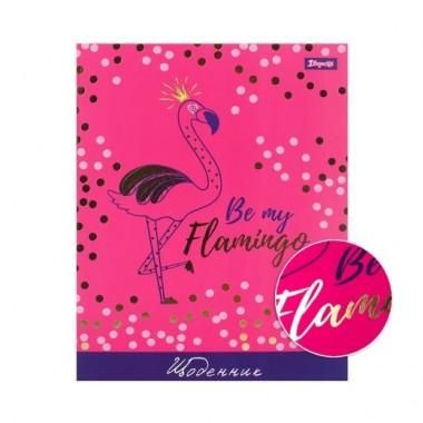 Щоденник шкільний інтегральний 1Вересня Flamingo, soft touch, фольга