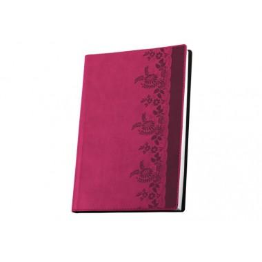 Діловий блокнот А6, Мереживо, рожевий