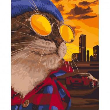 Картина за номерами ідейка Зухвалий кіт 40 * 50 см пензлі + фарби в комплекті