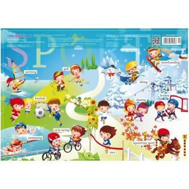 Коврик для детского творчества Спорт