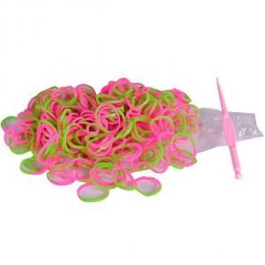 Резиночки для плетения фенечек двухцветные
