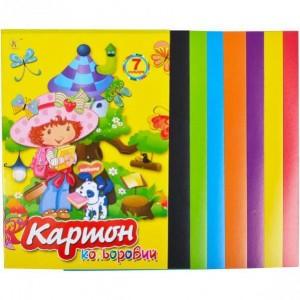 Цветной картон А4 7 листов