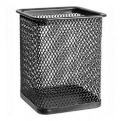 Подставка для ручек металл «Сетка-квадратная» черная 8 х 8 х 9.5 см