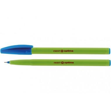 Ручка масляная OPTIMA FROST 0,7 мм, пишет синим