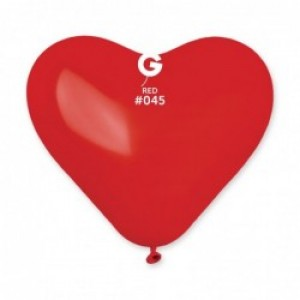 "Кульки ""Серце"" пастель червоний CR/45 25 см"