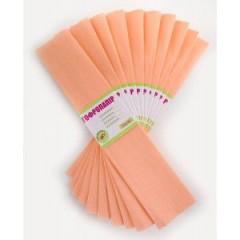 Бумага гофр. персиковая 55% (50см*200см)