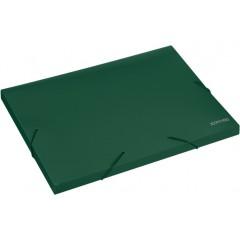 """Папка-бокс пластиковая А4 на резинках Economix, 20 мм, фактура """"бриллиант"""", зеленая"""