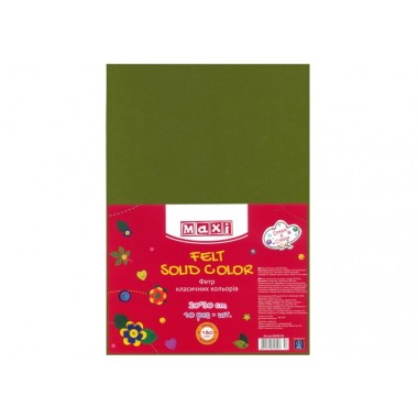 Фетр листовий (поліестер), 20х30см, 180г / м2, трав'янисто зелений