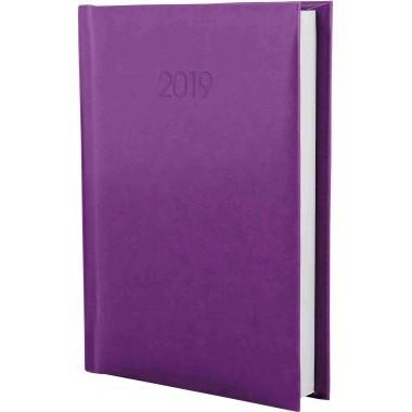 Дневник датированный 2019, FLASH, сиреневый, А6