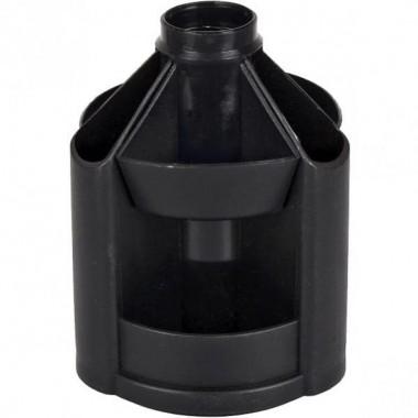 Підставка настільна В23, обертається на 360 °, пластик, чорна