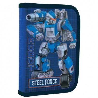 Пенал твердый 1Вересня одинарный без клапана HP-02 Steel Force