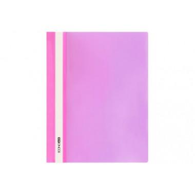 """Папка-скоросшиватель А4 Economix без перфорации, фактура """"глянец"""", розовая E31511-09"""