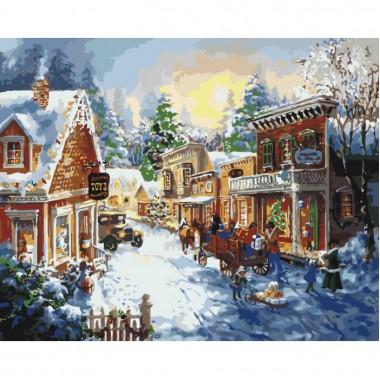 Картина за номерами ідейка Напередодні Різдва 40 * 50см пензлі + фарби в комплекті