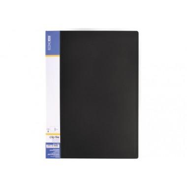 Папка А4 с боковым прижимом Economix CLIP В Light, черная