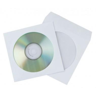 Конверт для СD/DVD с окошком, белый