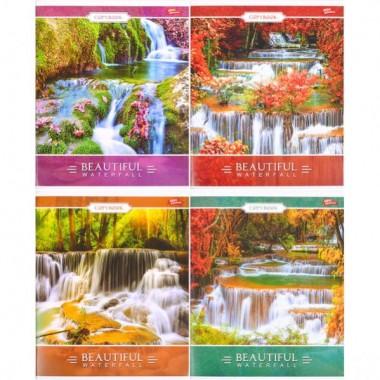 Тетрадь цветная 96 листов, линия «Водопады»