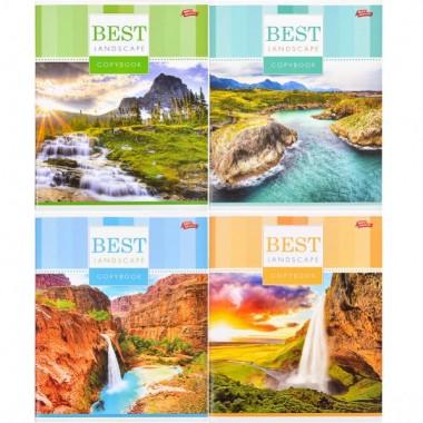 Зошит кольорова 96 аркушів, клітинка «Кращий пейзаж»