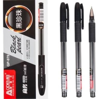 """Ручка гелевая 979 """"Black pearl"""" черная"""