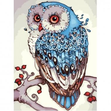 Картина за номерами Тварини, птахи  Сова  30х40см