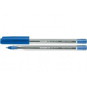 Ручка кулькова SCHNEIDER TOPS 505 М 0,7 мм. Корпус прозорий, пише синім