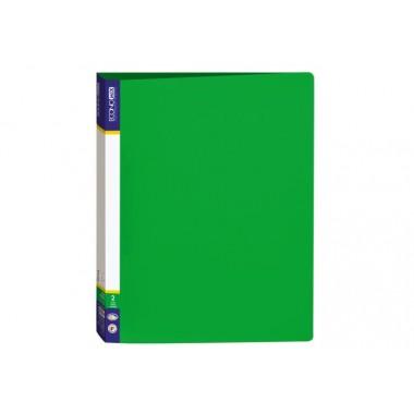 Папка пластикова А4 Economix на 2 кільця, зелений E30701-04
