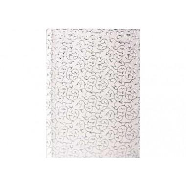Дневник датированный 2019, SULTAN, серебряно-белый, А6