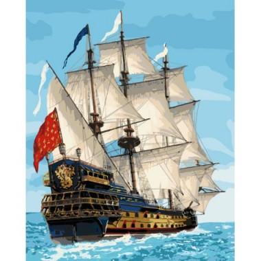 Картина по номерам Идейка Морской пейзаж Королевский флот 40 * 50см кисти + краски в комплекте