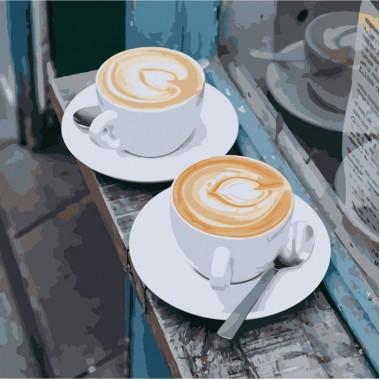 Картина за номерами ідейка Натюрморт Ранковий аромат любові 40 * 40 см пензлі + фарби в комплекті