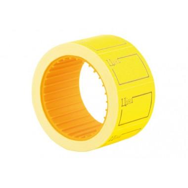 """Этикетки-ценники """"Цена"""" 30х20 мм Economix, 200 шт / рул., Желтые E21306-05"""