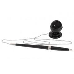 Ручка кулькова на підставці ECONOMIX DESK PEN 0,5 мм. Корпус чорний, пише синім E10128