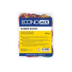 Резинки для денег Economix, 500г, ассорти