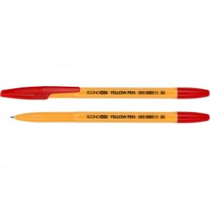 Ручка кулькова ECONOMIX YELLOW PEN червоний
