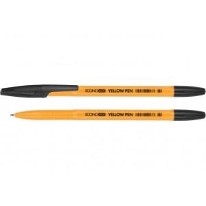 Ручка кулькова ECONOMIX YELLOW PEN 0,5 мм. Корпус жовтий, пише чорним E10187-01