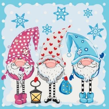 Картина за номерами ідейка Діти Маленькі помічники 40 * 40см пензлі + фарби в комплекті