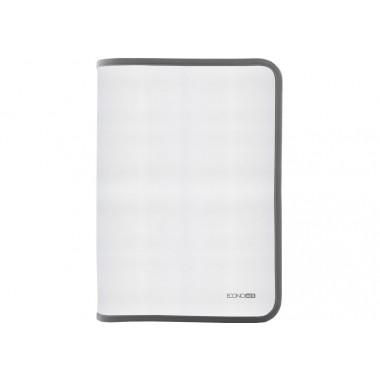 Папка-пенал пластиковая на молнии Economix, А4, прозрачная, фактура: ткань, молния серая