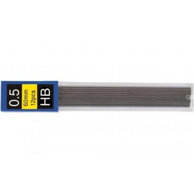 Стержні до механічного олівця ECONOMIX HB 0,5 мм  (12 шт. в тубусі)