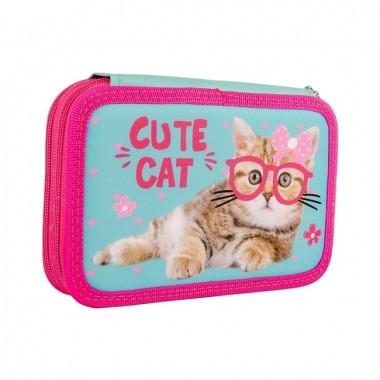 Пенал твердий SMART подвійний HP-01 Cute Cat