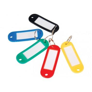 Брелок для ключей пластиковый 60 * 22 мм, ассорти, Economix