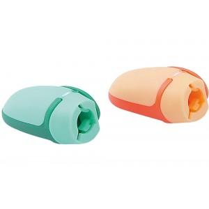 Чинка пластиковая колпачок с одним лезвием, с боковым клипом, Economix