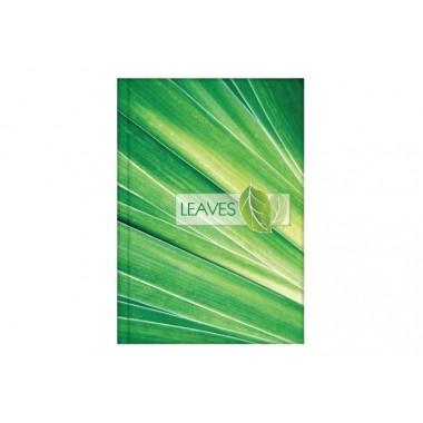 """Блокнот """"Малюнки природи"""", А4, тверда обкладинка, 96 л., Лінія, """"листя"""" O20297-02"""