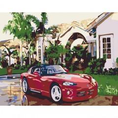 Картина за номерами Заміський будинок  Розкішне життя  40х50см пензлі + фарби в комплекті