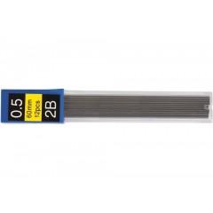 Стержні до механічного олівця ECONOMIX 2B 0,5 мм (12 шт. в тубусі)
