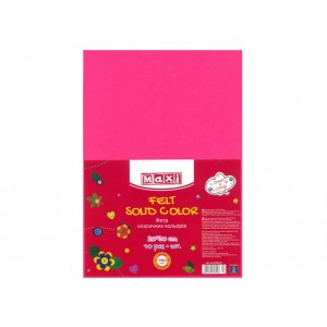 Фетр листовой (полиэстер), 20х30см, 180г / м2, розовый