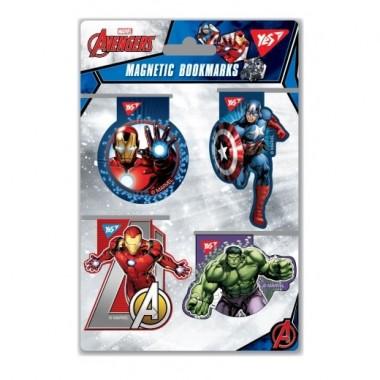 Закладки магнітні YES «Marvel», висічка, 4шт