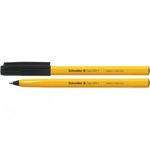 Ручка кулькова SCHNEIDER TOPS 505 F 0,5 мм. Корпус помаранчовий, пише чорним
