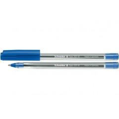 Ручка шариковая SCHNEIDER TOPS 505 М 0,7 мм. Корпус прозрачный, пишет синим