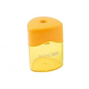 Точилка пластиковая с контейнером трехугольная, 1 лезвие, Economix