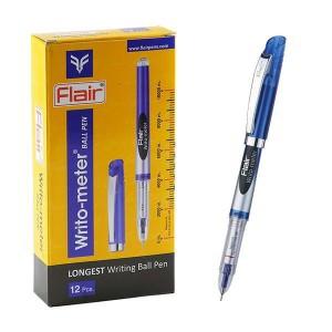 Ручка 10 км Flair 743 оригинал синяя