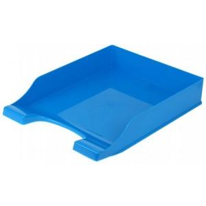 """Лоток для бумаг горизонтальный """"Симметрия"""" Economix, пластик, голубой непрозрачный"""